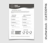 cv resume. document for... | Shutterstock .eps vector #1165530946