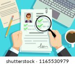 job interview concept.... | Shutterstock .eps vector #1165530979