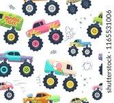 Monster Cars Seamless Pattern....