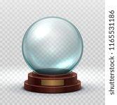 christmas snowglobe. crystal... | Shutterstock .eps vector #1165531186