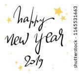 happy new year 2019 handwritten ... | Shutterstock .eps vector #1165531663