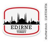 edirne turkey label stamp icon... | Shutterstock .eps vector #1165536556