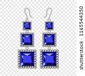 sapphire earrings mockup.... | Shutterstock . vector #1165544350