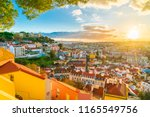 panoramic view of lisbon at... | Shutterstock . vector #1165549756