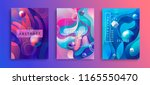 set of abstract geometric... | Shutterstock .eps vector #1165550470