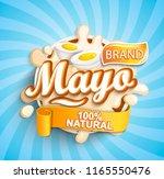 natural and fresh mayonese...   Shutterstock .eps vector #1165550476