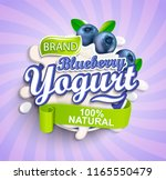 natural and fresh blueberry... | Shutterstock .eps vector #1165550479