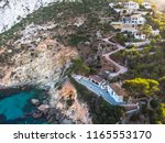 summer 2018. hairpin turn to... | Shutterstock . vector #1165553170