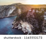 arial drone view on granadella... | Shutterstock . vector #1165553173