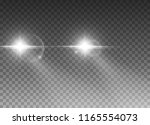 cars light effect. white glow... | Shutterstock .eps vector #1165554073