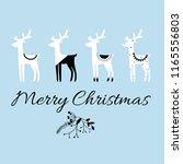 merry christmas quote  vector... | Shutterstock .eps vector #1165556803