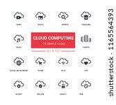 cloud computing   flat design...   Shutterstock .eps vector #1165564393