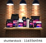 fitness sport nutrition... | Shutterstock .eps vector #1165564546