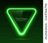 the glass banner is triangular... | Shutterstock .eps vector #1165566796
