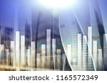 financial graphs and charts on... | Shutterstock . vector #1165572349