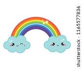 cute rainbow. iisolated vector...   Shutterstock .eps vector #1165577836