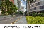 skyline of singapore city.... | Shutterstock . vector #1165577956