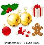 jingle bells and christmas...   Shutterstock .eps vector #116557828