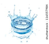splash water isolated on a... | Shutterstock . vector #116557984