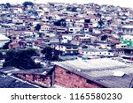 favela of the city of s o paulo.   Shutterstock . vector #1165580230