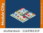 isometric view of a farm town... | Shutterstock . vector #1165581319