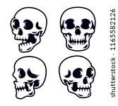head skull pack   Shutterstock .eps vector #1165582126
