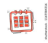 vector cartoon calendar agenda...