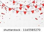celebration party banner. red...   Shutterstock .eps vector #1165585270