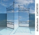 Open Metal Steel Baroque Fence...