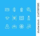 vector illustration of 12... | Shutterstock .eps vector #1165589380