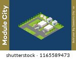 isometric city 3d airport... | Shutterstock . vector #1165589473
