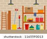 house cellar background. flat...   Shutterstock . vector #1165593013