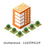 isometric 3d city landscape... | Shutterstock . vector #1165594129