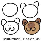 teach your child how to draw... | Shutterstock .eps vector #1165595236