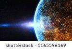 block chain network concept ... | Shutterstock . vector #1165596169