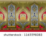 seamless paisley traditional... | Shutterstock . vector #1165598383