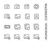 vector image set of camera and... | Shutterstock .eps vector #1165602946