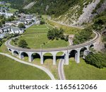 the circular viaduct   the... | Shutterstock . vector #1165612066