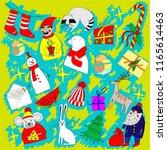 christmas illustration ... | Shutterstock .eps vector #1165614463