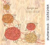 romantic floral background   Shutterstock .eps vector #116561464
