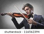 Violinist Playing A Violin
