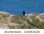 man walking at runde island ... | Shutterstock . vector #116562628