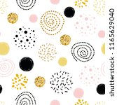 cute seamless pattern polka dot ... | Shutterstock .eps vector #1165629040
