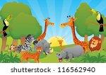 animals in jungle | Shutterstock .eps vector #116562940