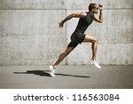 Sport Man Starting Running....