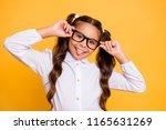 portrait of cheerful  cute  fun ... | Shutterstock . vector #1165631269