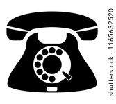 phone icon. black and white... | Shutterstock .eps vector #1165632520