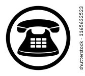 phone icon. black and white... | Shutterstock .eps vector #1165632523