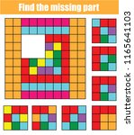 puzzle for toddlers. find the... | Shutterstock .eps vector #1165641103