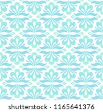 vector floral damask seamless... | Shutterstock .eps vector #1165641376